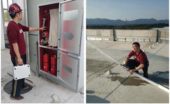 公司正式开展消防设施维护保养检测