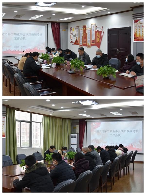 中鑫公司第二届董事会成员换届考核工作会议顺利召开