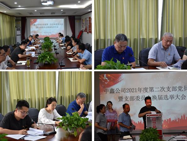 中鑫公司召开2021年度第二次支部党员大会暨支部委员